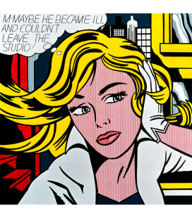 Roy Fox Lichtenstein - M-Maybe - Immagine di una ragazza. Stampa su tela