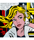Roy Fox Lichtenstein - M-Maybe a girl's picture. Printing on canvas