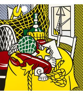 Roy Fox Lichtenstein - Natura morta con aragosta. Stampa su tela