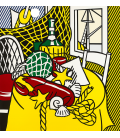 Roy Fox Lichtenstein - Still Life with Lobster. Printing on canvas