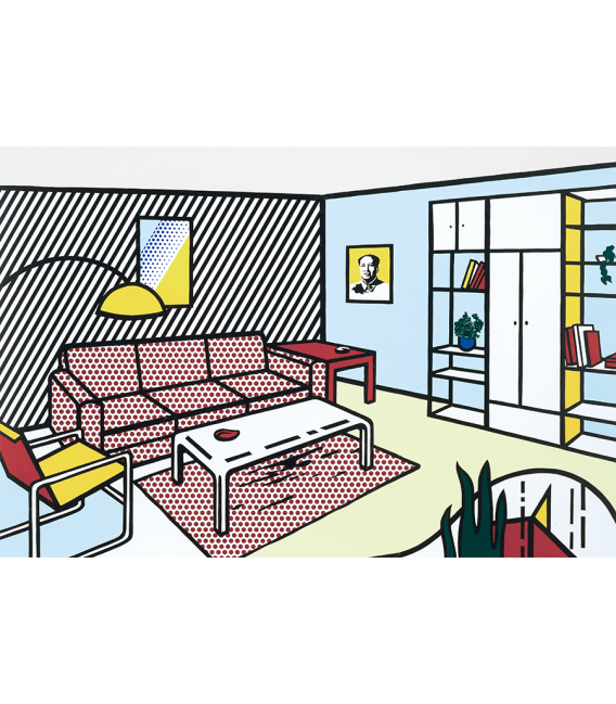 Roy Fox Lichtenstein - Stanza moderna . Stampa su tela