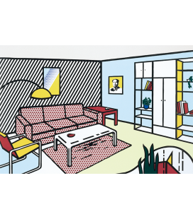 Roy Fox Lichtenstein - Modern room. Printing on canvas