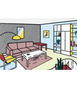 Roy Fox Lichtenstein - Modern room. Printing on canvas