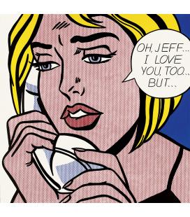 Roy Fox Lichtenstein - Oh, Jeff...Ti amo, molto... Ma. Stampa su tela