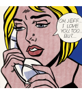 Roy Fox Lichtenstein - Oh, Jeff...I Love You, Too...But. Printing on canvas