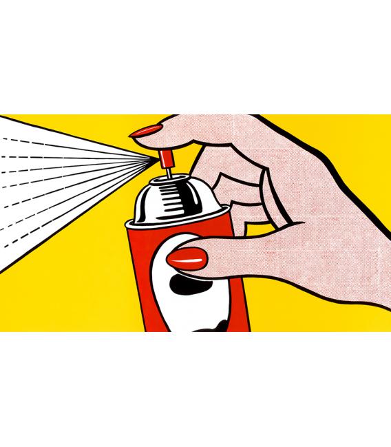 Roy Fox Lichtenstein - Spray. Printing on canvas