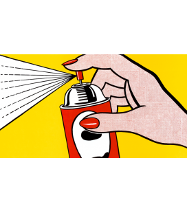 Roy Fox Lichtenstein - Spray. Stampa su tela