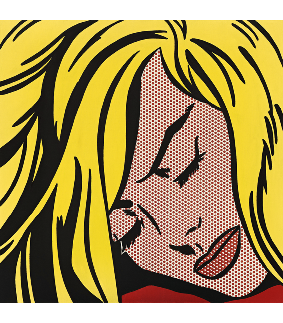 Roy Fox Lichtenstein - Sleeping girl. Printing on canvas