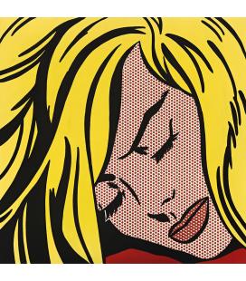 Roy Fox Lichtenstein - Ragazza che dorme. Stampa su tela