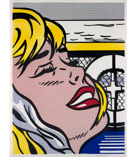 Roy Fox Lichtenstein - Ragazza a bordo. Stampa su tela