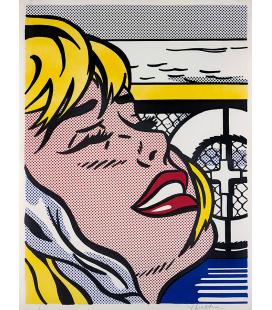 Roy Fox Lichtenstein - Ragazza a bordo. Stampa su tela