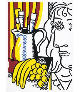 Roy Fox Lichtenstein - Natura morta con Picasso. Stampa su tela