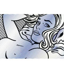 Roy Fox Lichtenstein - Seductive girl. Printing on canvas