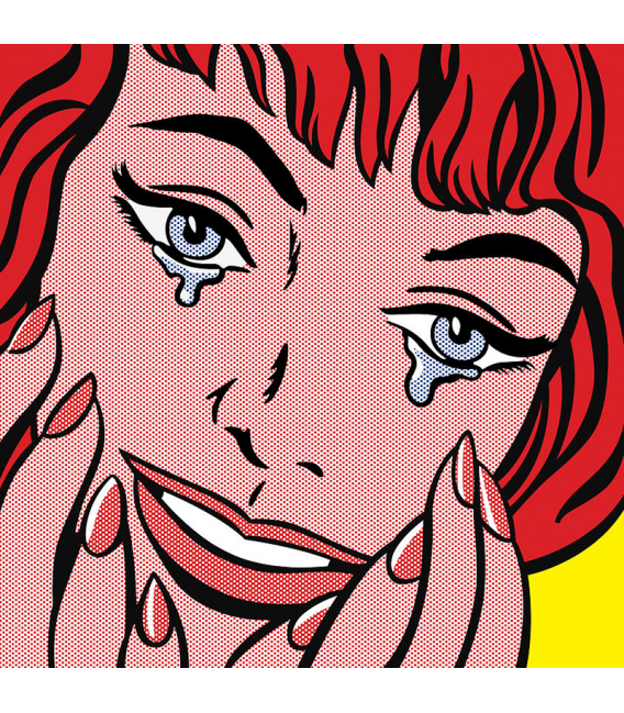 Roy Fox Lichtenstein - Crying. Printing on canvas