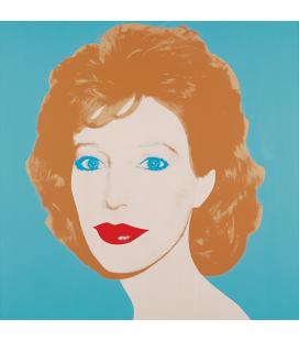 Andy Warhol - Portrait of a Woman (Linda Oxenburg). Printing on canvas