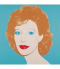 Andy Warhol - Ritratto di una donna (Linda Oxenburg). Stampa su tela