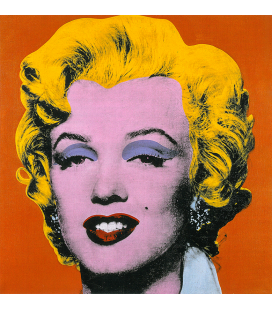 Andy Warhol - Marilyn Monroe Orange. Stampa su tela