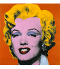 Andy Warhol - Marilyn Monroe Orange. Printing on canvas