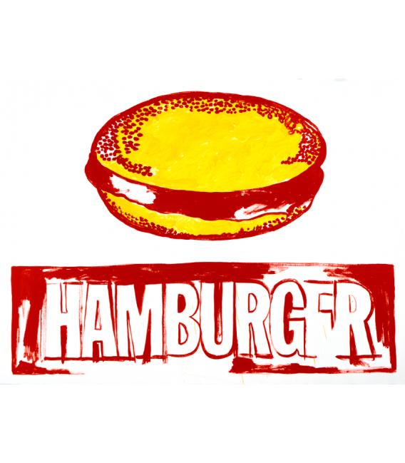 Andy Warhol - Hamburger. Printing on canvas
