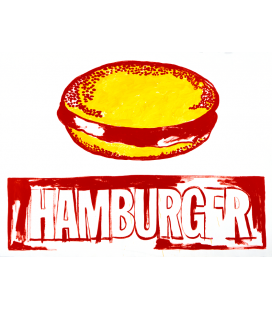 Andy Warhol - Hamburger. Stampa su tela