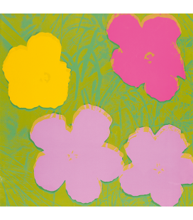 Andy Warhol - Flowers - 11.68. Printing on canvas