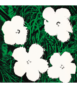 Andy Warhol - Flowers. Printing on canvas
