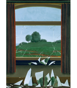René Magritte - La Chiave dei Campi - Stampa giclée su tela