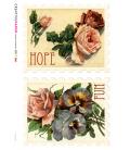 Carta di riso per decoupage VIT-FLO-0028