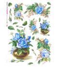 Carta di riso per decoupage VIT-FLO-0021