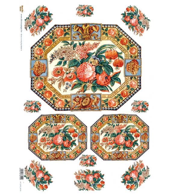 Carta di riso per decoupage VIT-FLO-0016