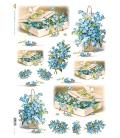 Carta di riso per decoupage VIT-FLO-0008