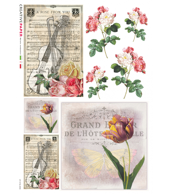 Carta di riso per decoupage VIT-FIG-0064