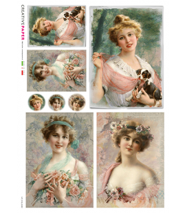Carta di riso per decoupage VIT-FIG-0062