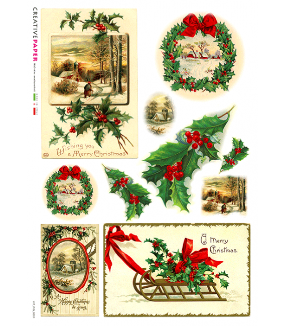 Carta di riso per decoupage VIT-FIG-0051