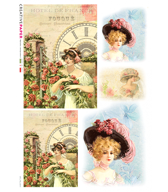 Carta di riso per decoupage VIT-FIG-0044