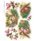 Carta di riso per decoupage VIT-FLO-0010