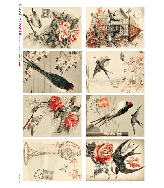 Carta di riso per decoupage VIT-ANI-0004