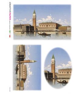 Carta di riso per decoupage ITALY-0016