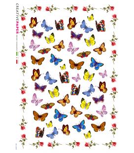 Carta di riso Decoupage: Farfalle e Rose