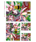 Decoupage rice paper: Bees and Flowers