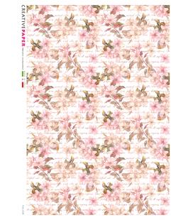 Carta di riso per decoupage FLO-0208