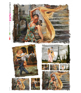 Carta di riso per decoupage FIG-0117