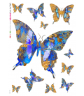 Decoupage rice paper: Butterflies Blue and Yellow