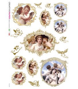Carta di riso per decoupage FIG-0064