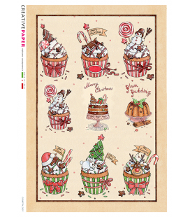 Carta di riso per decoupage COUNTRY-0027