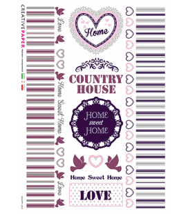 Carta di riso per decoupage COUNTRY-0016