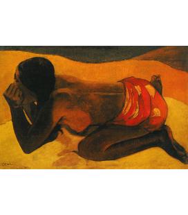 Paul Gauguin - Otahi (Sola). Stampa su tela