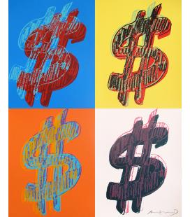 Andy Warhol - Dollar Sign 284 (Quad)
