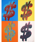Andy Warhol - Dollar Sign 284 (Quad)