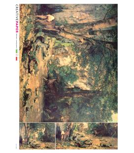 Carta di riso Decoupage: Cervi nella Foresta
